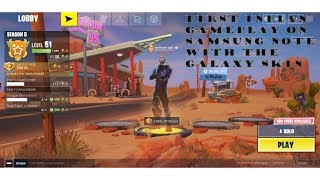 Fortnite Mobile Gameplay on Samsung Note 9 * 1st in India * | Android | Galaxy Skin