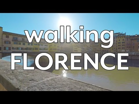 Walking Florence, Italy in the morning