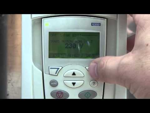 VFD programming NHA tutorial ABB ACH550 ACS550 Variable Frequency Drive on