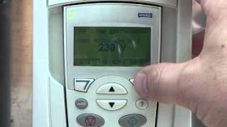 VFD programming NHA tutorial ABB ACH550 ACS550 Variable Frequency Drive Spin the Motor.wmv