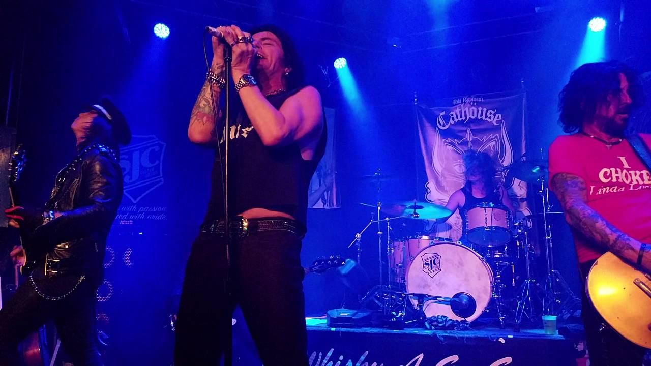 LA Gun's Phil Lewis and Tracii Guns - Over the Edge  Whisky A Go-Go in Hollywood  CA 10 6 2016