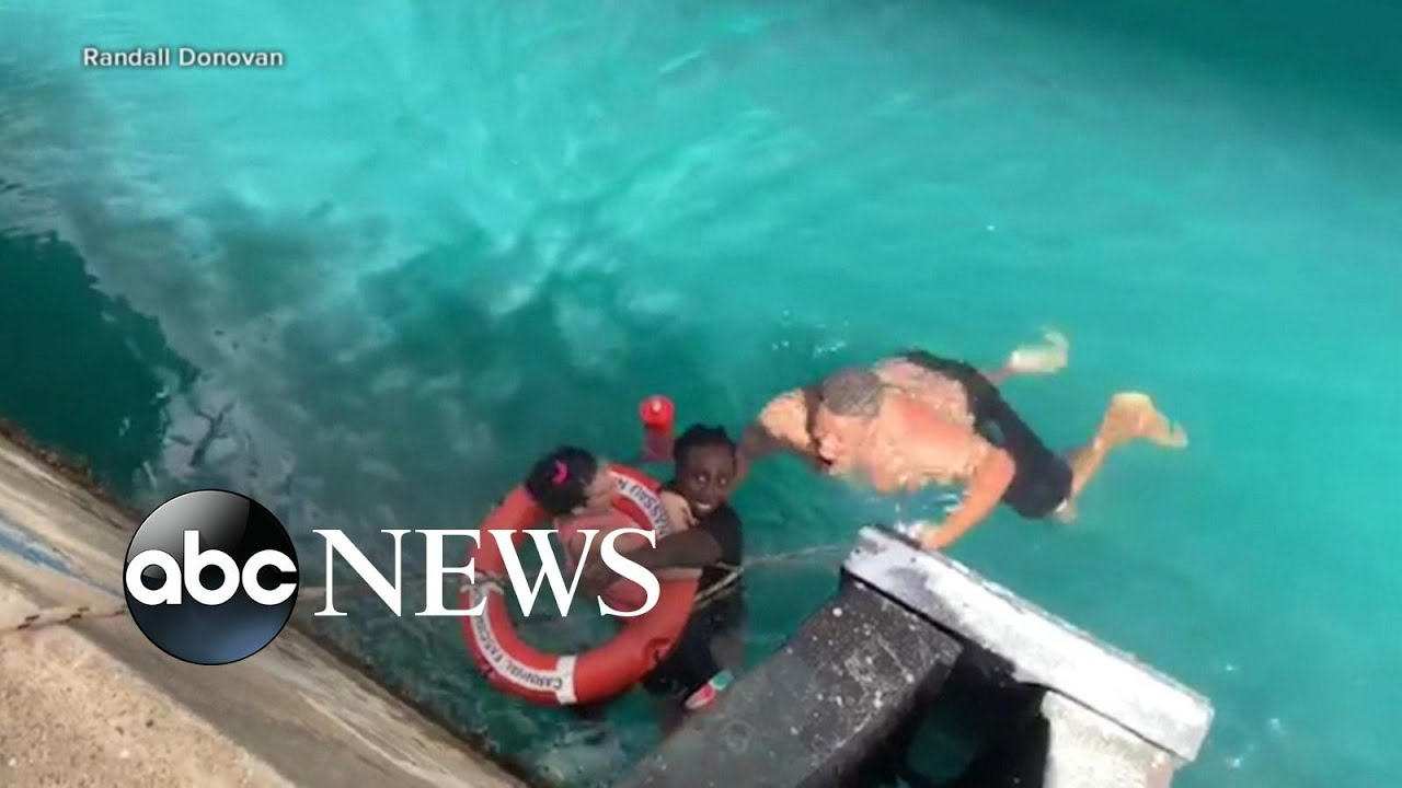 ABC News:Strangers save woman whose wheelchair rolled off cruise ship l ABC News