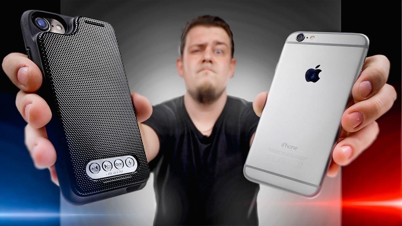 Колонка-Чехол для iPhone с Блютуз с сайта Алиэкспресс.