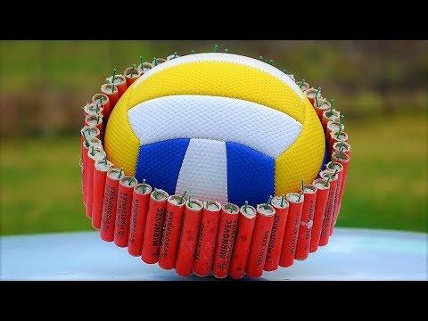 EXPERIMENT Firecrackers vs Balls - compilation videos