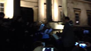 JeSuisCharlie - Tribute to the victims by 150 musicians in Trafalgar Square (08/01/2015)