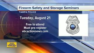 Tampa Police Department offering free gun safety and storage seminars to residents