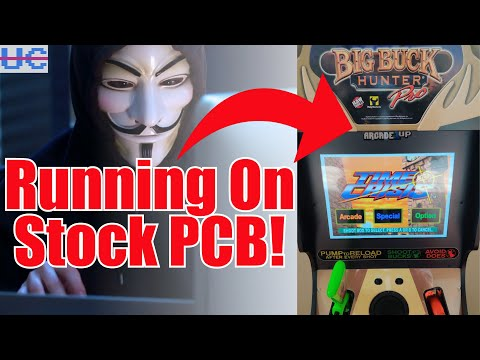 Time Crisis Running On Big Buck Hunter Stock PCB! Arcade1up Hacked/Jailbroken Add More Games from Unqualified Critics