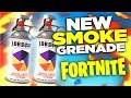 Smoke Grenade Gameplay! (Fortnite Battle Royale - NEW UPDATE)