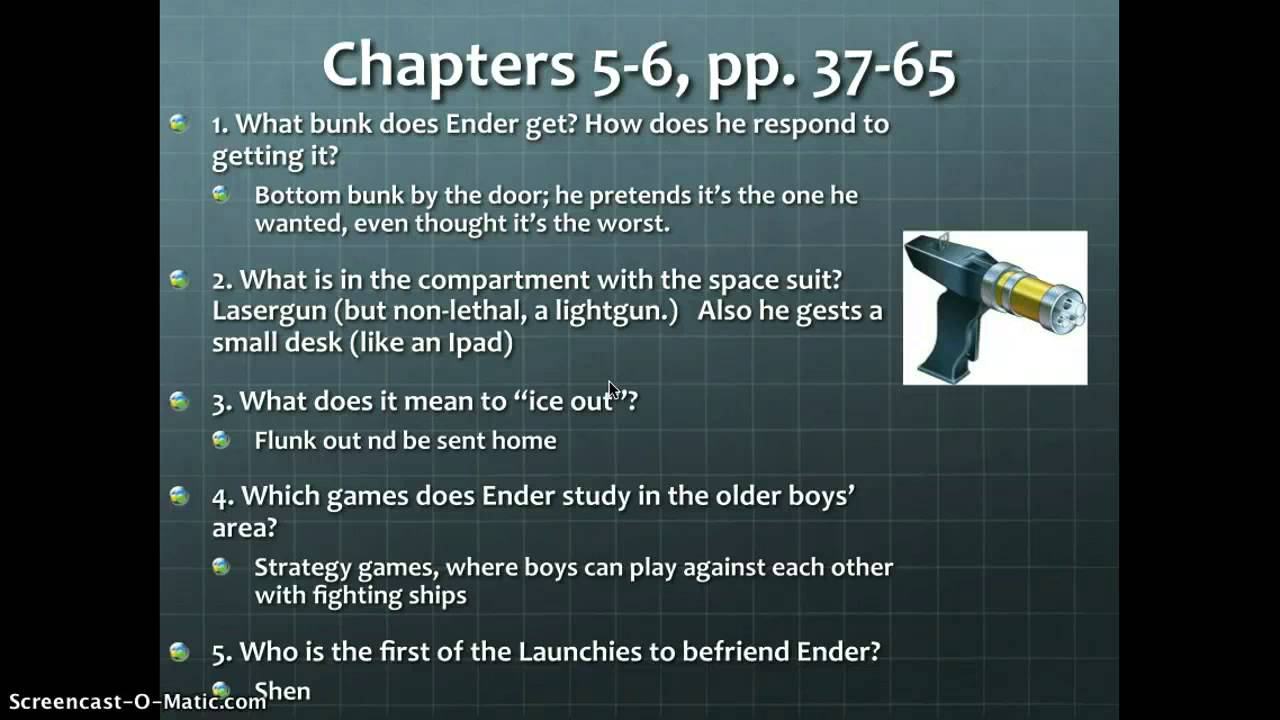 Study Guide 3 Ender S Game Chapters 3 6 Study Guide Questions