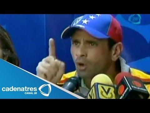 Henrique Capriles pide a Nicolás Maduro pruebas del supuesto golpe de Estado