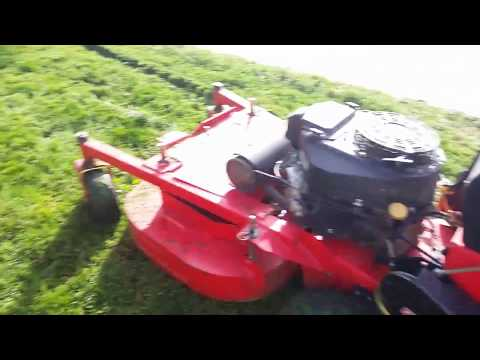 Gravely 36 walk behind home made chute blocker experiment