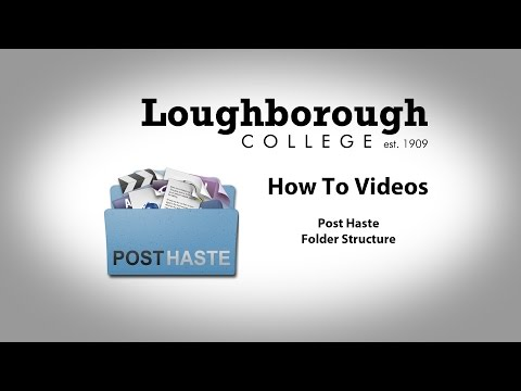 How To - Post Haste - Folder Structure