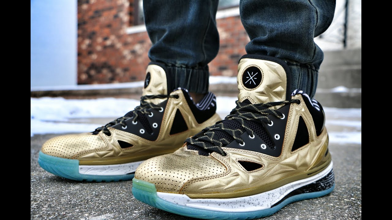 Li Ning Way Of Wade Encore 2 5 Gold Rush On Foot Youtube