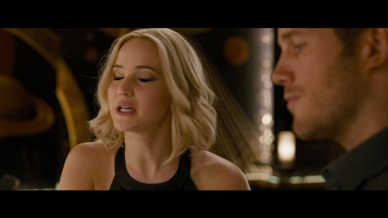 passengers first date clip with jennifer lawrence and chris pratt youtube. Black Bedroom Furniture Sets. Home Design Ideas