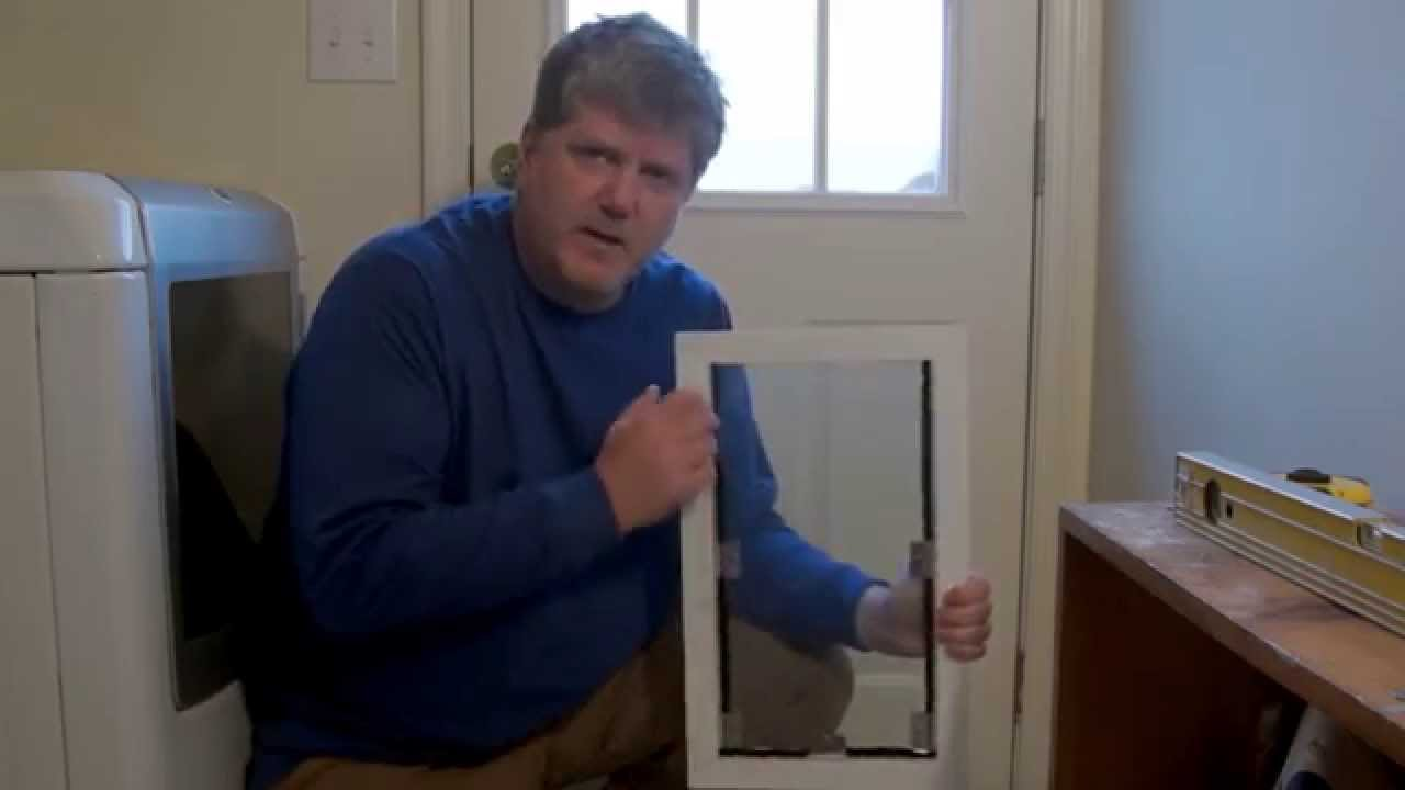 How to install dog door on exterior door youtube - Exterior door with pet door installed ...