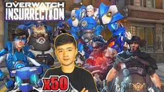 UNLOCKING 50 UPRISING LOOT BOXES! | Overwatch ALL New Skins