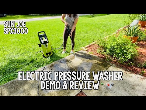 Sun Joe SPX3000 - Electric Pressure Washer review and demo