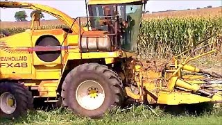 Chopping and Bagging Corn Silage
