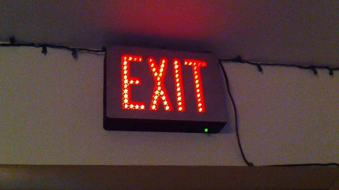 exit signs emergilite preceptor series ledpxn2r directview led exit sign