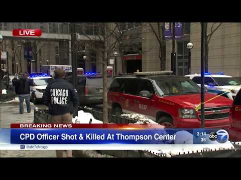 CPD office fatally shot at Thompson Center