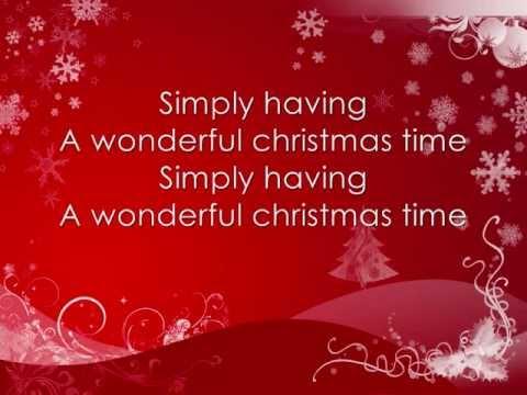 Paul McCartney - Wonderful Christmas time *lyrics on screen*