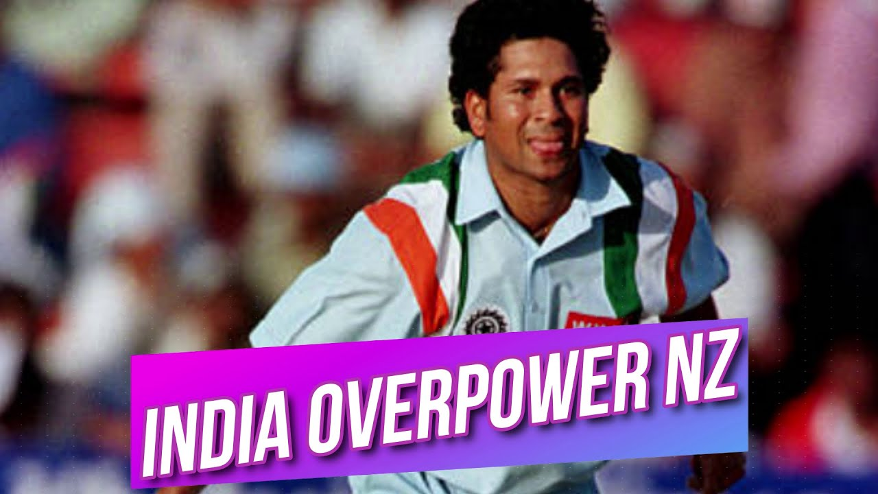 India Overpower New Zealand at Sharjah 4th ODI 1998 Highlights