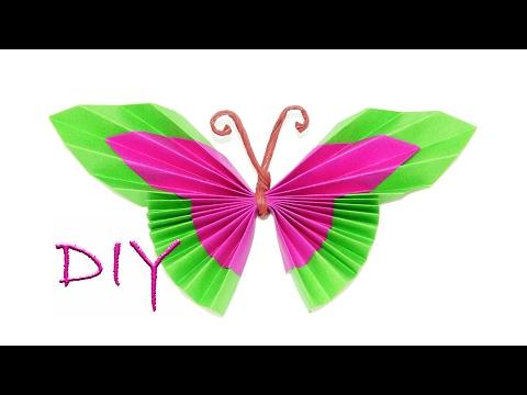 Schmetterlinge falten - Basteln mit Papier - DIY