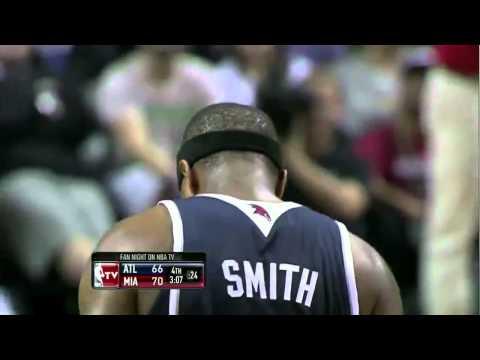 Josh Smith dunks all over Joel Anthony (Jan. 18, 2011)
