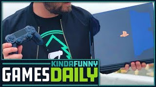 Unboxing The 500 Million PS4 Pro - Kinda Funny Games Daily 08.20.18