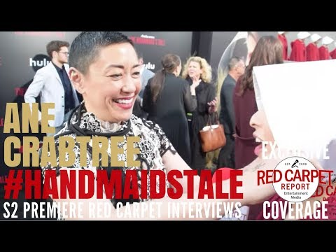 Ane Crabtree, Costume Designer, interview at premiere of Hulu's The Handmaid's Tale S2 #ResistSister