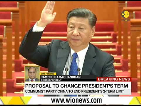 Breaking News: Communist party in China to end President's 2-term limit