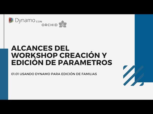 Dynamo para edición de familias | 01 Alcances del Workshop