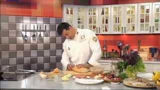 Батон, фаршированный сосисками