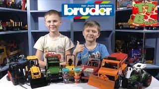 ✔ BRUDER. Спецтехника для детей. Игорек и Богдан играют с машинками. Видео для мальчиков ✔