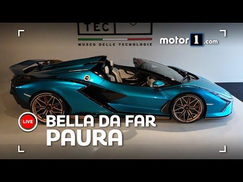 Lamborghini Sian Roadster, vista dal VIVO lascia a BOCCA APERTA!