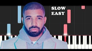 Drake - Mob Ties (SLOW EASY PIANO TUTORIAL)