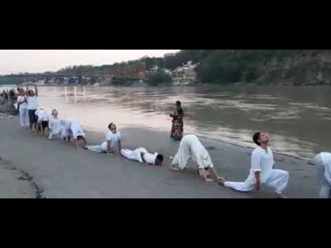 12 Poses Of Surya Namaskar With Mantra...Om Shanti Om Yoga Ashram
