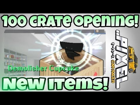 Pixel Car Racer: 100 crate opening! Winning the new items!