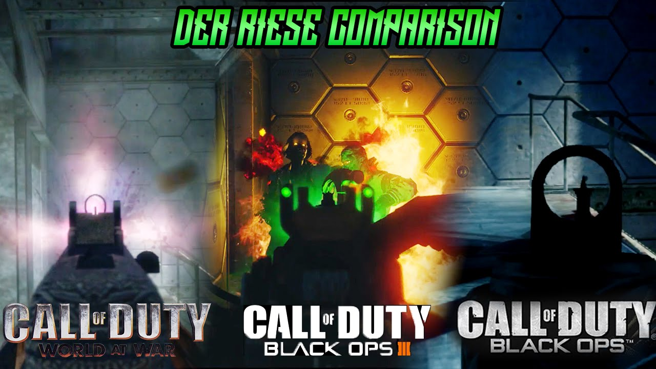 Black Ops 3 The Giant Zombies Map Vs Black Ops 1 World At War