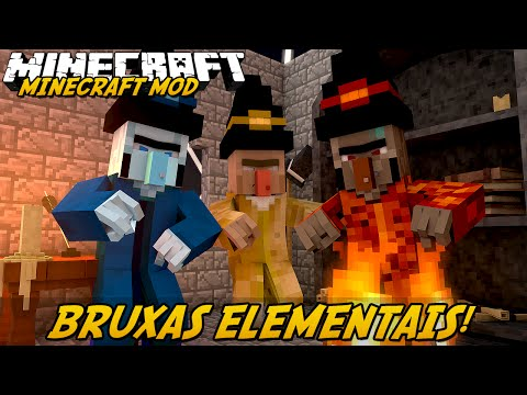 Minecraft Mod: BRUXAS ELEMENTAIS! (Staffs e Pets // Elemental Witch)