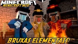 Minecraft Mod: BRUXAS ELEMENTAIS! (Staffs e Pets // Elemental Witch)