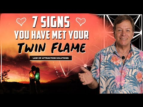 7 Signs You Have Met Your Twin Flame - Law of Attraction - YouTube
