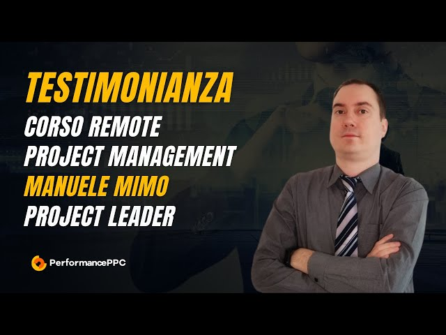 Testimonial Manuele Mimo video corso Remote Project Manager
