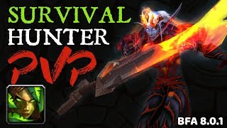 WoW Survival Hunter PVP Montage | War Mode & Battlegrounds BFA 8.0.1