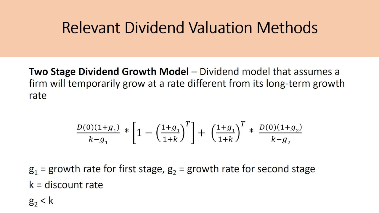 Estimating and Calculating Dividend Growth Rates