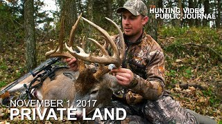 Private Land: Nov. 1:  7 Yard Bow Kill, Calling in a Giant Buck | The Hunting Public