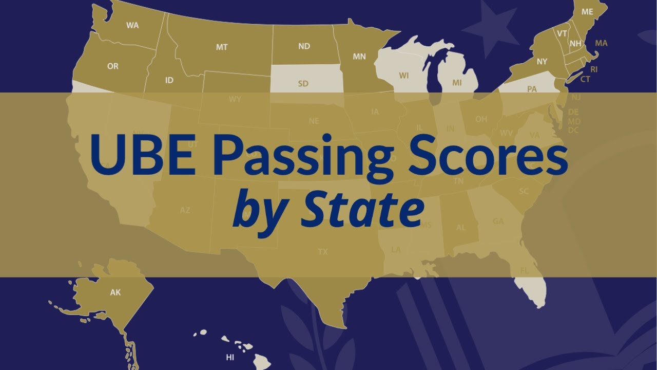 UBE Passing Scores by State - YouTube