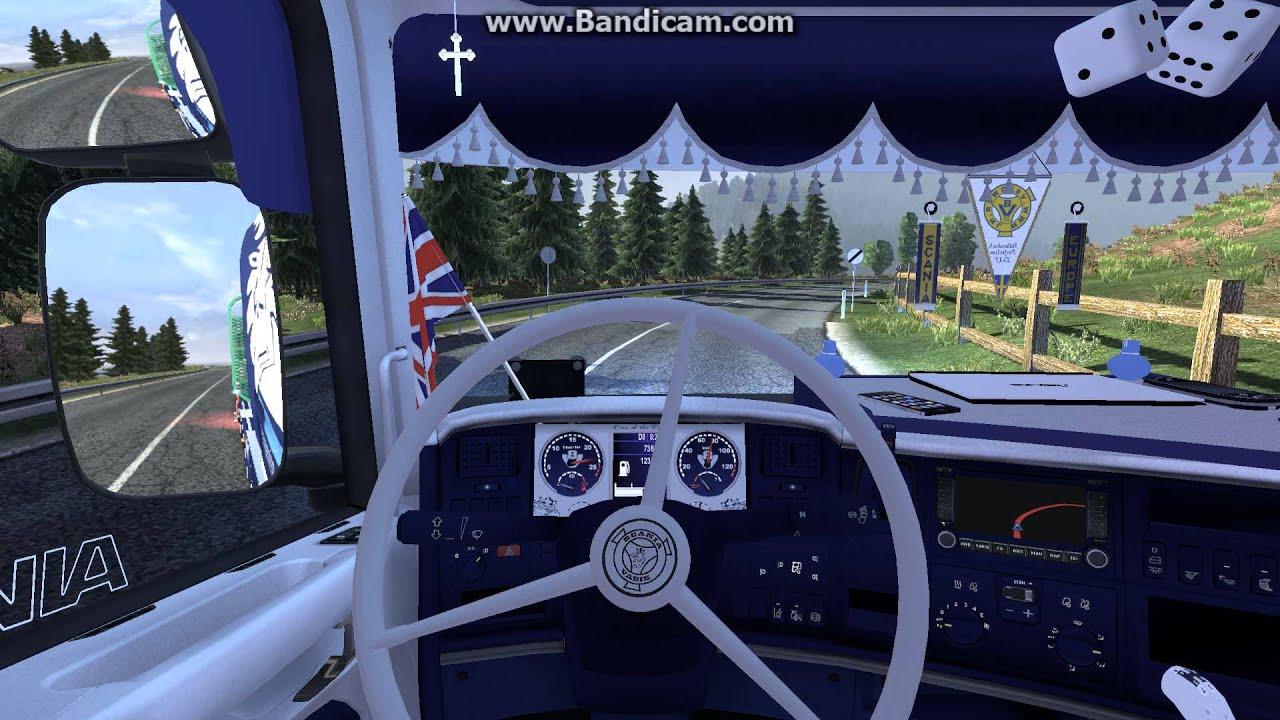 Euro truck simulator 2 scania r 730 skin and interior for Interior design simulator online free