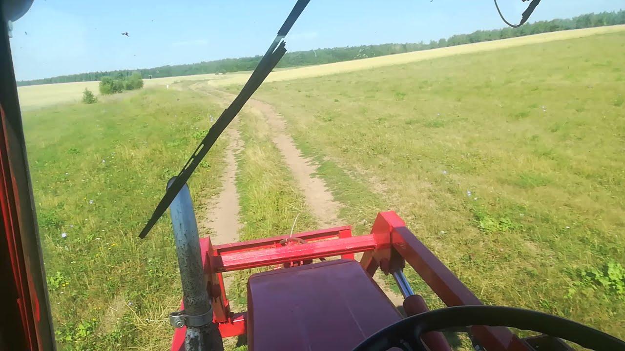 Поехали  косит траву в другую деревню на тракторе Т 25