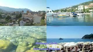 Будва Черногория. Budva Montenegro. Sounds of cicadas. Relax on the beach.